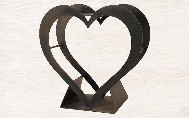 Deko-Herz GARDOX, grau lackiert