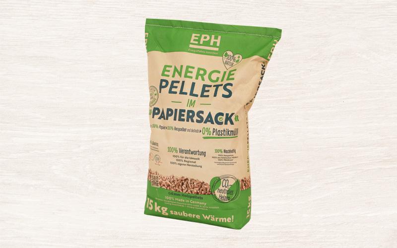 Hosenfeld Pellets im Papiersack