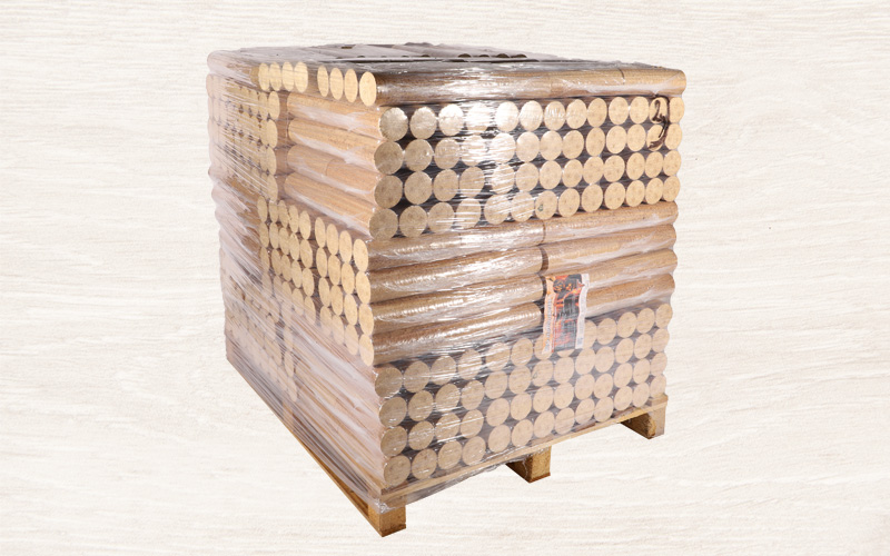 Bio - Holzbriketts (Fichte, rund)