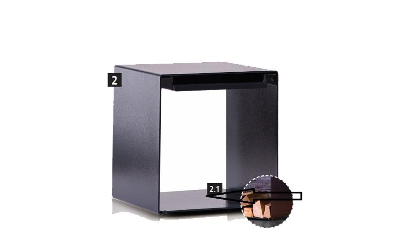 Bodenplatte (Wärmehocker) aus 5 mm Stahlblech